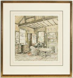 Attributed to Walter Taylor (1860-1943) - 1923 Watercolour, Cottage Interior