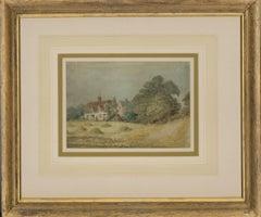 David Cox Jnr. ARWS (1809-1885) - 19th Century Watercolour, Farming Cottages