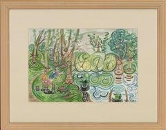 Edward Morgan (1933-2009) - Signed 20th Century Watercolour, Lakeside Pattern
