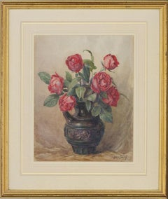 Augustus Morton Hely-Smith RBA - Early 20th Century Watercolour, Roses in a Jug