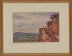 Ronald Olley (b.1923) - Framed 20th Century Watercolour, Continental Landscape