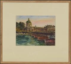 Ronald Olley (b.1923) - c. 2000 Watercolour, Pont des Arts at Sunset
