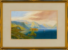 Roland Stead - Signed and Framed Mid 20th Century Watercolour, Mountain Lake
