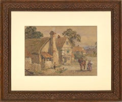 Walter G. Reynolds (1832-1896) - Signed 1884 Watercolour, Rural Cottages