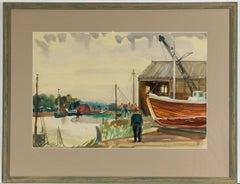 Jean Dryden Alexander (1911-1994) - Signed Gouache, Harbourside