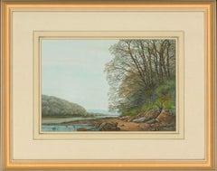 John Whitney (b.1934) - Two 2000 Watercolours, A Cornish Landscape and Cottage
