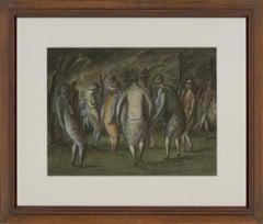 Harold Hope Read (1881-1959) - Signed & Framed 1925 Watercolour, Ladies Dancing