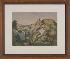 Harold Hope Read (1881-1959) - Signed & Framed 1923 Watercolour, Society Day Out