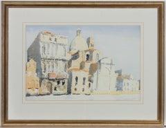 Nicholas Poullis - Signed & Framed Contemporary Watercolour, Venetian Church