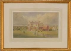 Joseph William Carey RUA (1859-1937) - 1929 Watercolour, Edwardian House