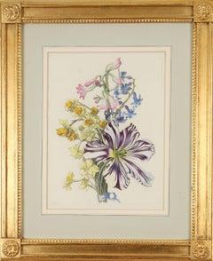Jean Baptiste Monnoyer: Hand-coloured Engravings of Flowers, 1670-80, Set of 12