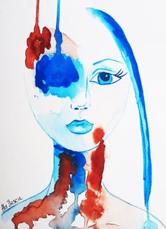 Here I stand, Painting, Watercolor on Watercolor Paper