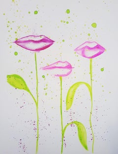 Kisses, Painting, Watercolor on Watercolor Paper