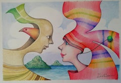 Encuentro, Drawing, Pencil/Colored Pencil on Paper