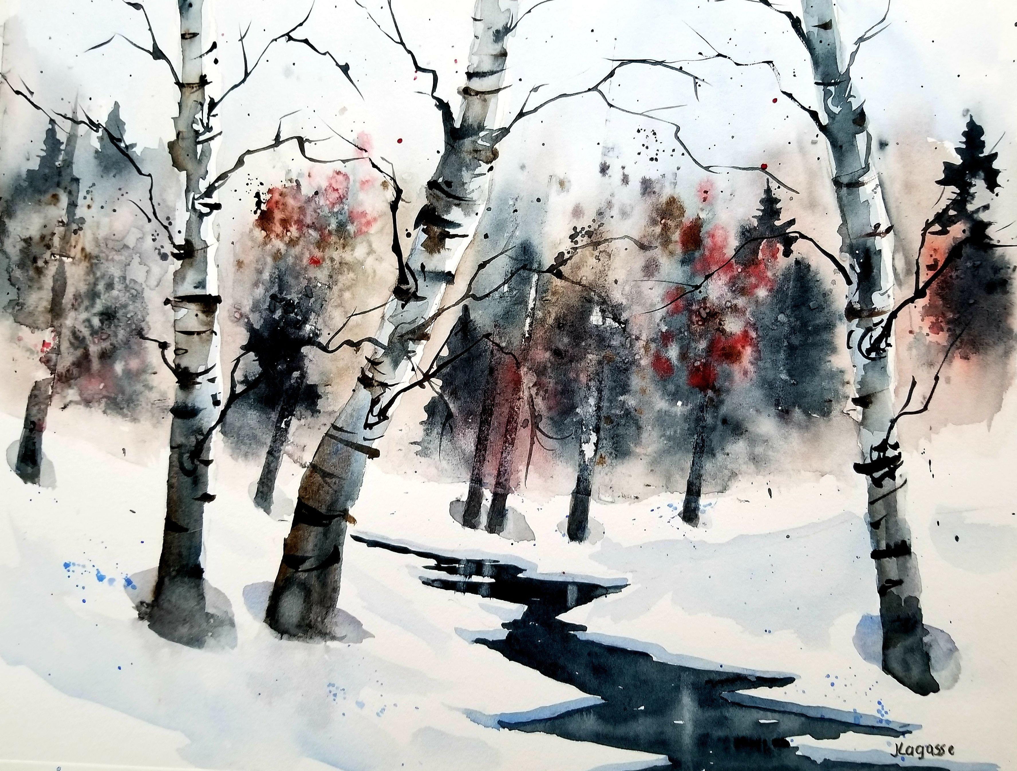 Frozen, Painting, Watercolor on Watercolor Paper