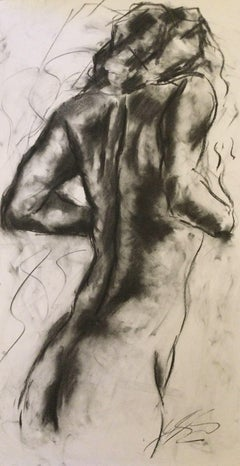 Vital, Drawing, Charcoal on Paper