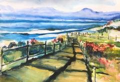 Coastal Drama Half Moon Bay, Painting, Watercolor on Watercolor Paper