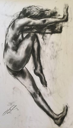 Escape, Drawing, Charcoal on Paper