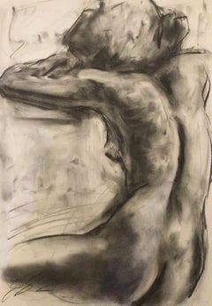 Shine, Drawing, Charcoal on Paper