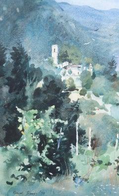 David Thomas - 1998 Watercolour, Summer In The Hills