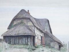 William T. Wood ROI VPRWS (1877-1958) - 1915 Watercolour, Cottage in Cholderton