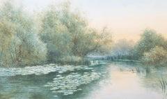 Alfred Ashdown Box (fl.1879-1910) - Late 19th Century Watercolour, water lilies