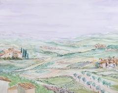 Jack Gatehouse - 1969 Watercolour, Farms & Farmland, Provence