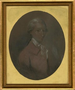 18th Century Chalk Pastel - Portrait of Henry Snaith Trower