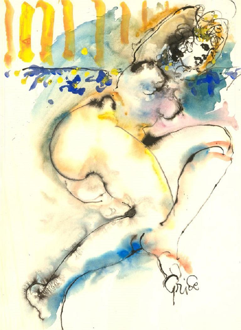 Hendrik Grise (1917-1982) - 20th Century Watercolour, Nude Figure For Sale 1