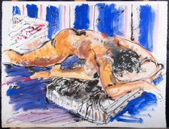 Hendrik Grise (1917-1982) - 20th Century Watercolour, Sleeping Figure