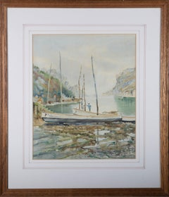 Frederick William Sturge - Early 20th Century Watercolour, Boats and Figures