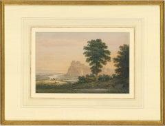 Late 19th Century Watercolour - Clifftop Castle