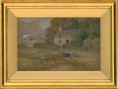 Peter Ghent RCA (1857-1911) - Late 19th Century Watercolour, Cottage by a Stream