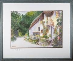 E.J.E. Bryant - 1998 Watercolour, Thatched Cottage in Ringmore, Devon