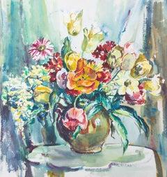 Marcella Smith (1887-1963) - Mid 20th Century Watercolour, Vibrant Summer Blooms