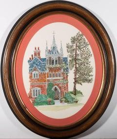C. Owen - Contemporary Watercolour, Red Brick House