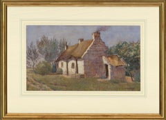 Berenger Benger RCA RBA (1868-1935) - 1885 Watercolour, Thatched Cottage