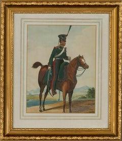 19th Century Watercolour - Russian Cavalryman