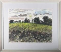 John Scorror O'Connor (1913-2004) - 20th Century Watercolour, Field and Sunset