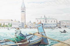 Kate Thorpe - Framed 20th Century Watercolour, Venice from the Water