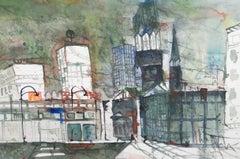 Contemporary Watercolour - City Night View