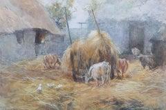 J.S. Harrison - 1908 Watercolour, Pastoral Scene