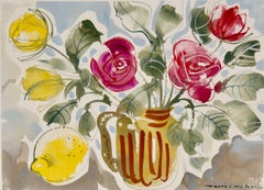 Alan Halliday: A collection of Watercolours of Fruits and Flowers, Hand Painted