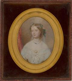 c. 1850 Watercolour - The Victorian Bride