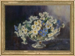Marion Broom RWS (1878-1962) - Early 20th Century Watercolour, Vase of Flowers