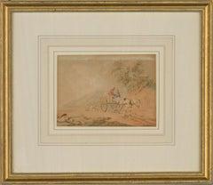 Peter La Cave (1769-1811) - 18th Century Watercolour, Pony and Trap