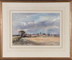Andrew King (b.1956) - Signed Mid 20th Century Watercolour, Across the Fields