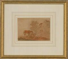 Attrib. Peter La Cave (1769-1811) - 18th Century Watercolour, Farmyard
