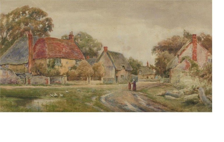 Henry John Kinnaird (1861-1929) - Late 19th Century Watercolour, Rural Hamlet For Sale 1