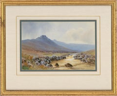 John McDougal (1851-1945) - Early 20th Century Watercolour, Mountain Landscape